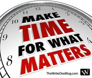 Make Time To Write - How Do I Make Time For Writing?