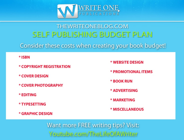 Cost Of Self Publishing - How Much Will It Cost To Self Publish?