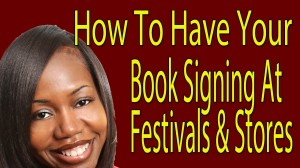 book signings at festivals and bookstores